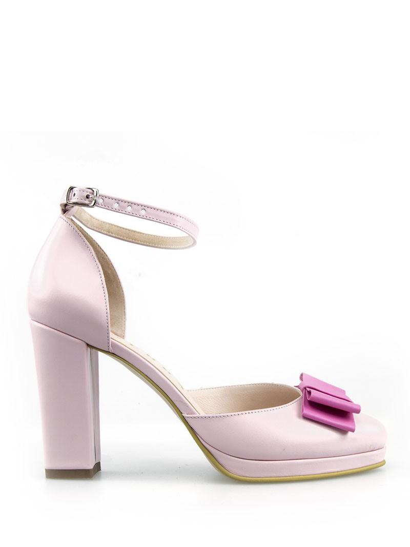 Sandale Dama Cu Platou Roz Pal Eros