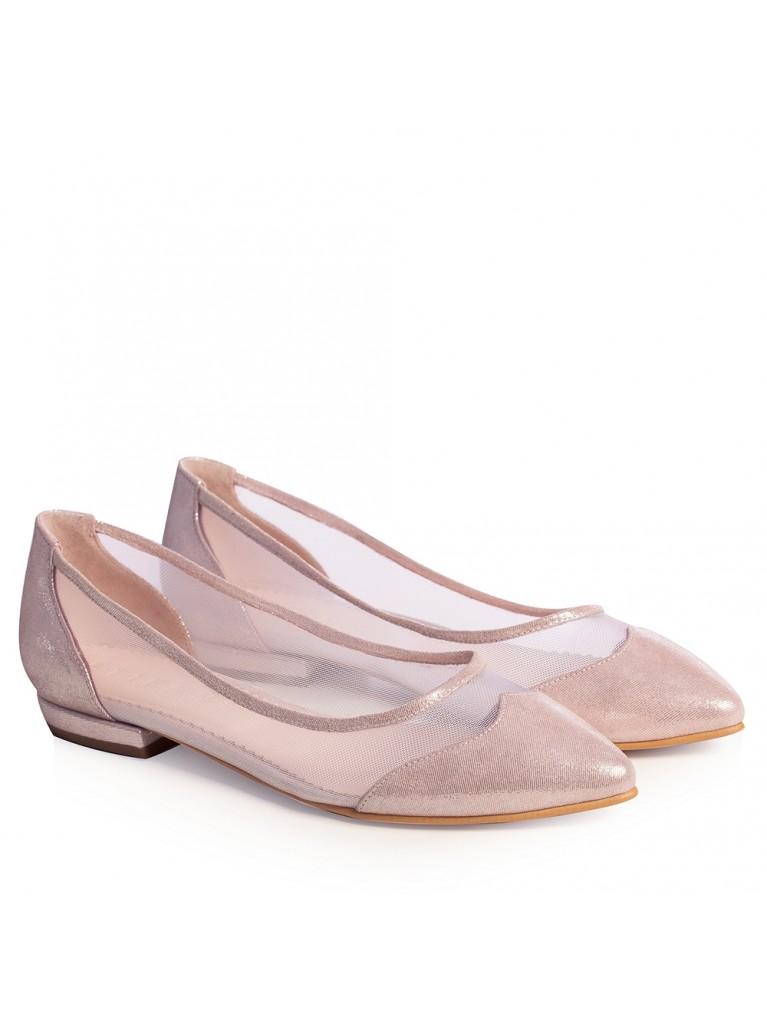 Balerini mireasa roz pudra Brianna