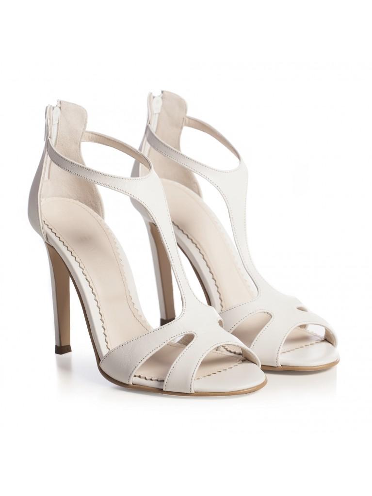 Sandale de mireasa albe Aurora