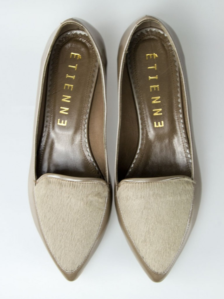 Mocasini dama cappucino sidef din piele naturala Evelyn
