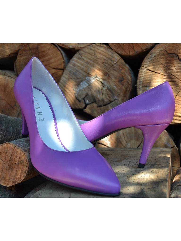 pantofi stiletto cu toc mic mov