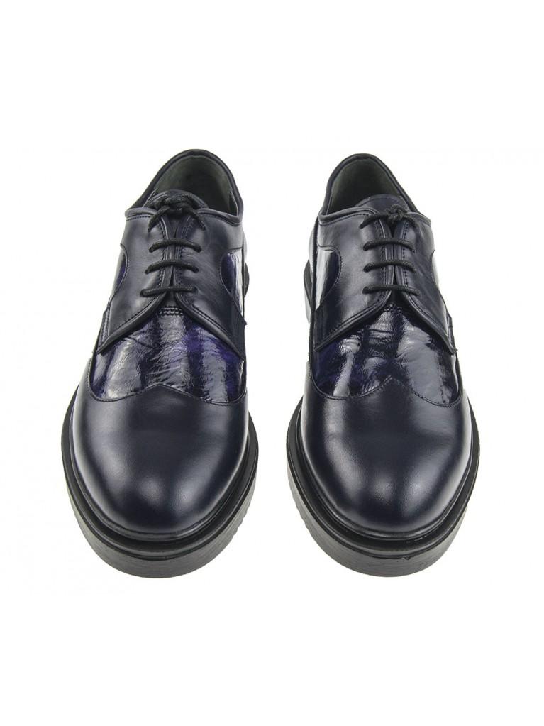 pantofi oxford cu platforma si varf rotund