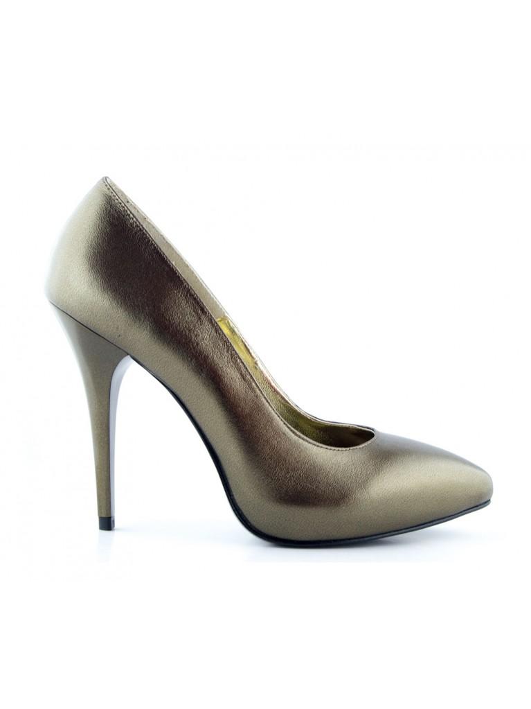Pantofi cu platforma aurii