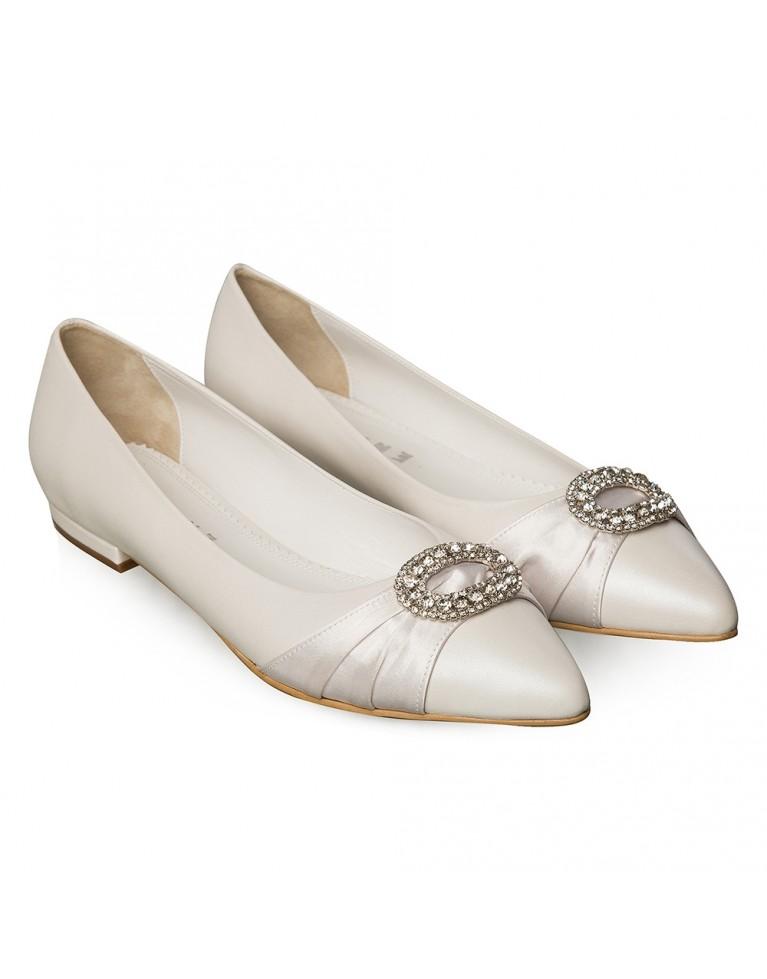 Balerini mireasa ivory accesorizati Blanche