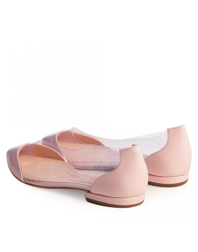 Balerini mireasa roz pudra Plexi