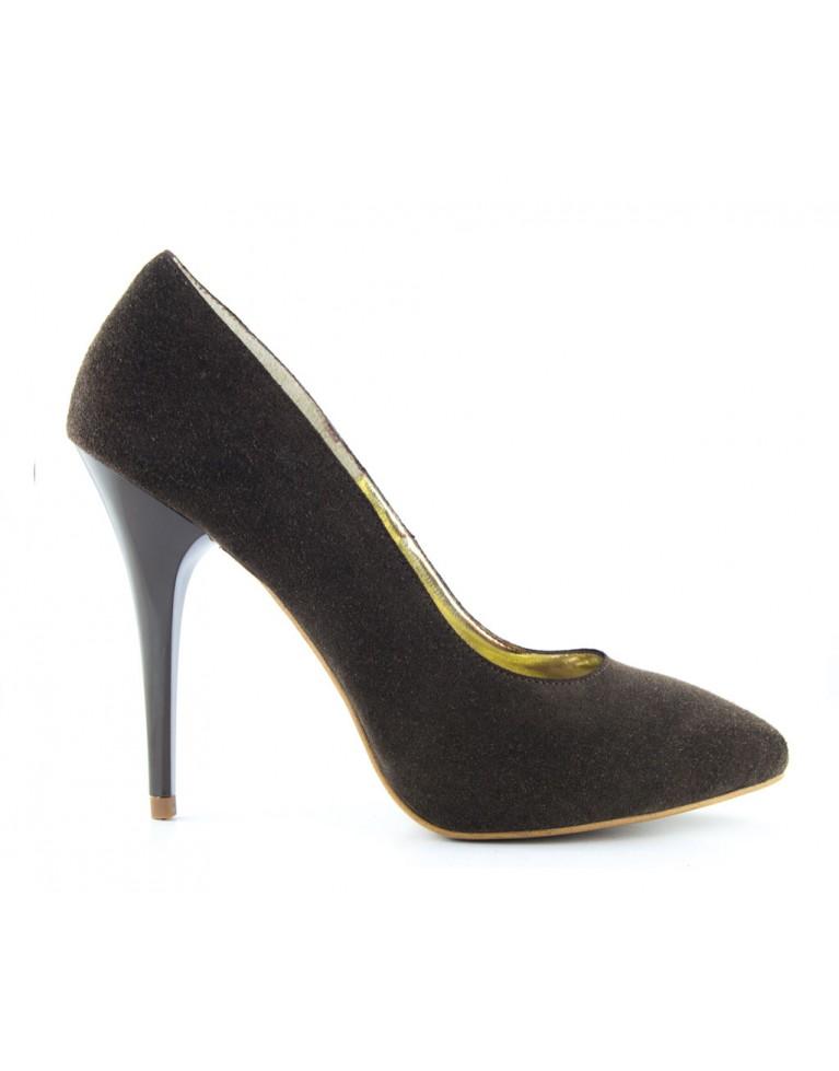 pantofi cu platforma maro