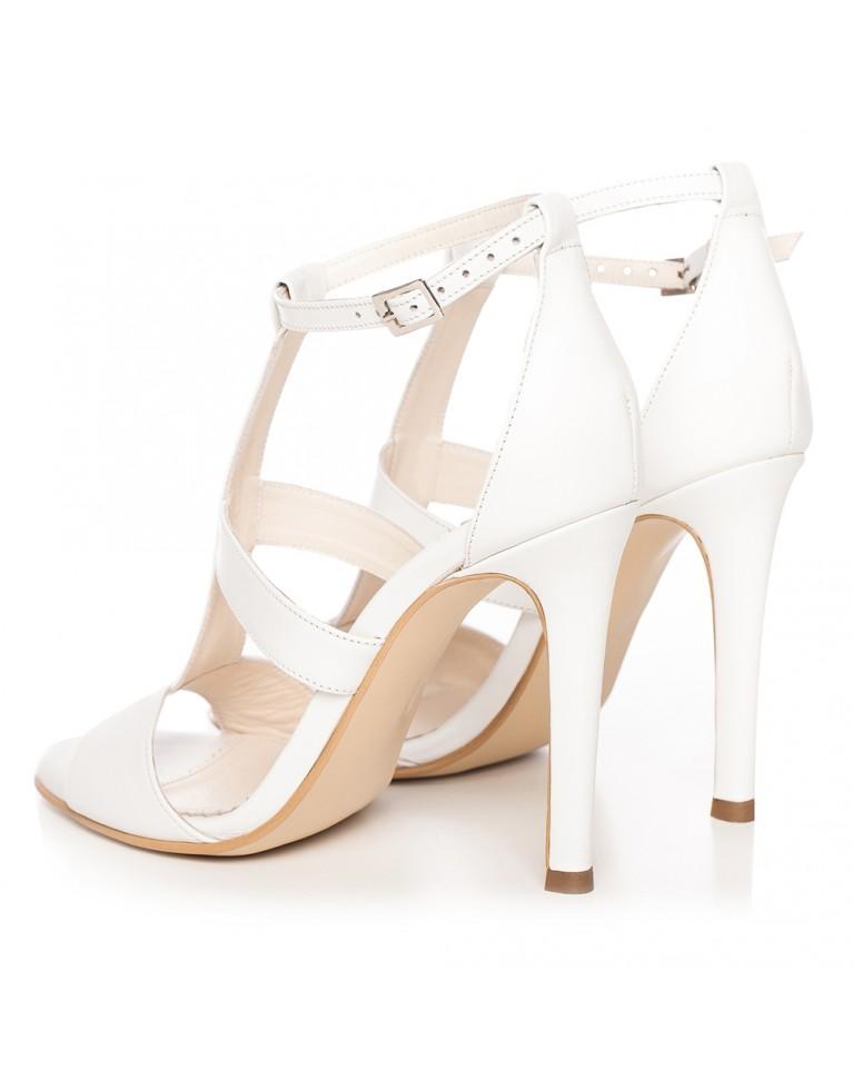 Sandale de mireasa albe Bianca