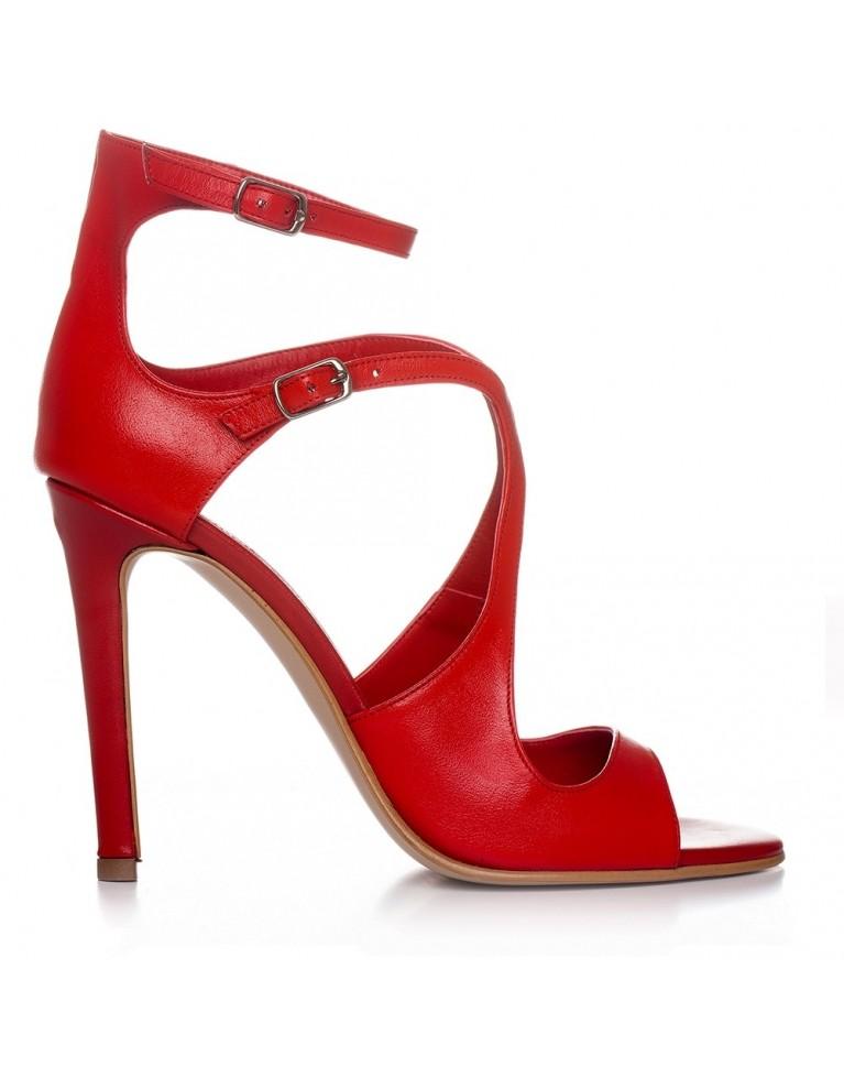Sandale de ocazie Rosii Noelle 100mm