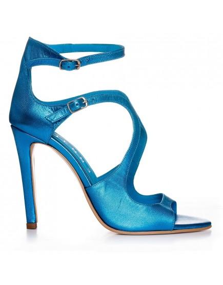 Sandale de ocazie ALBASTRU IRIZAT Noelle 100mm