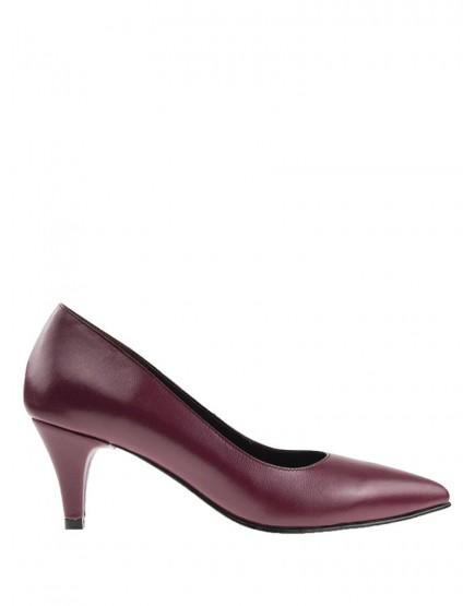 Pantofi dama stiletto marsala cu toc mic 5cm