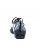Pantofi cu talpa joasa negru croco