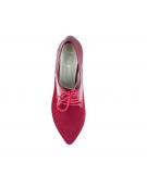 pantofi oxford rosii cu talpa joasa
