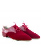 pantofi oxford rosii cu talpa pereche