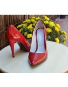 pantofi stiletto rosii piele lac