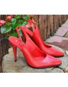 sandale stiletto cu bareta rosii