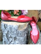 balerini cu bareta pe glezna rosu bordeaux