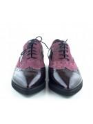 pantofi oxford cu talpa groasa grena