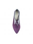 Pantofi oxford cu talpa joasa marsala