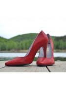 Pantofi stiletto rosii snake print