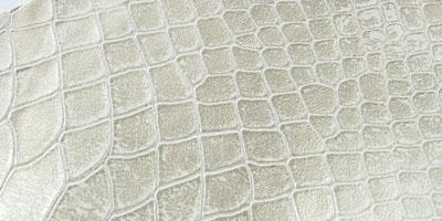 piele snake print argintiu