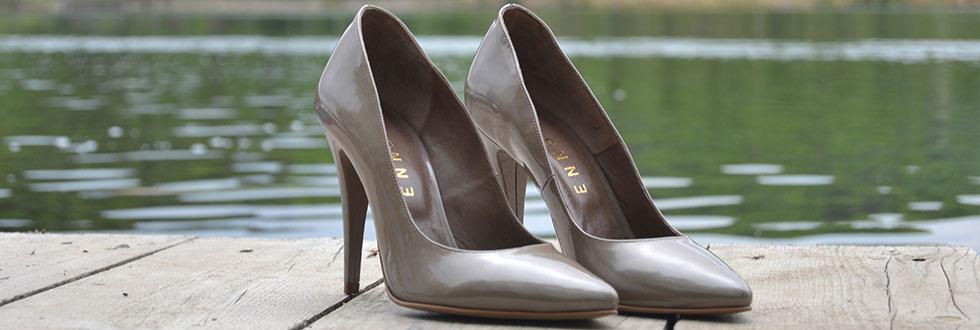 pantofi stiletto lac